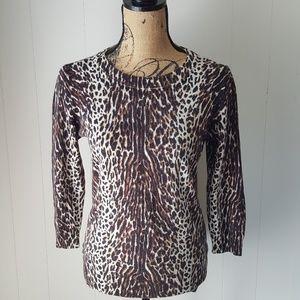 J Crew Leopard Print Wool Tippi Sweater 47351